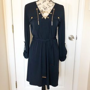 Michael Kors Navy Chain Dress